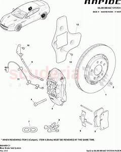 Aston Martin Rapide Rear Brake Sub System Parts