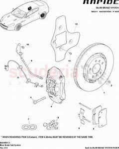 Aston Martin Rapide Rear Brake Sub System Parts