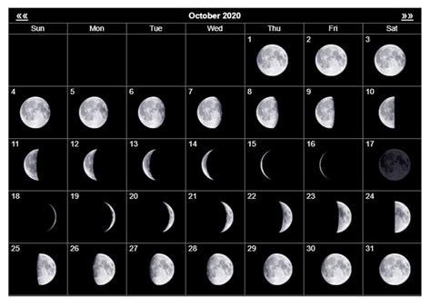 october  moon calendar  astrology