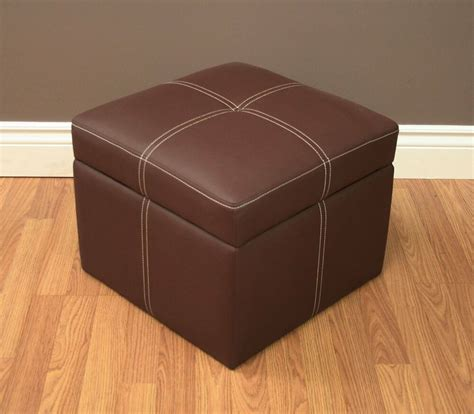 Hassock Ottoman by Footstool Ottoman Small Hassock Brown Storage Flip Top