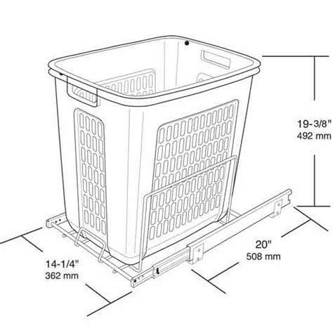 Rev-A-Shelf White Pull-Out Polymer Laundry Hamper for