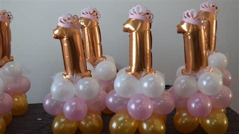 st birthday princess party balloon decoration centerpiece