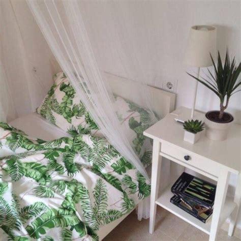 home accessory bedding bedding bedroom duvet duvet set leaves green white bedding