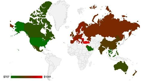 how many in the world iphones this map shows you how much the iphone will cost you 2169