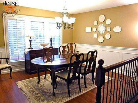 Thus, wall paneling is one of the hottest trends at wall stickers in dining room. How to make a big statement on an even bigger blank wall; decorating with plates.   Plates on ...