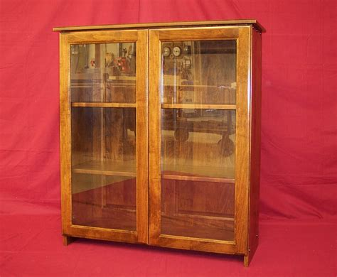 bookshelf with glass doors custom handcrafted solid wood bookcases