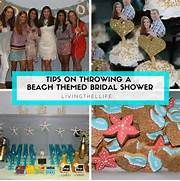 Tips And Ideas For Throwing A Beach Themed Bridal Shower Beach Theme Bridal Shower Shower Pinterest Beach Bridal Shower Bluewhite Beach Bridal Shower Beach Theme Bridal Shower Cake Photos Jpg Pictures To Pin