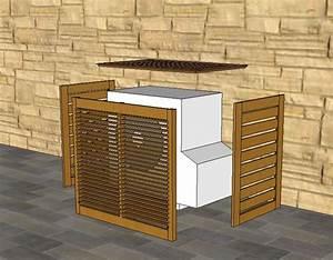 realisation un quotcachequot pour moteur ext de clim pompe With amenagement exterieur terrasse maison 19 pompe a chaleur air air