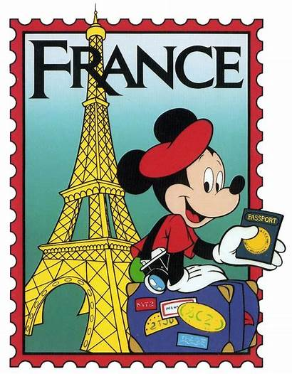 Epcot Disney Stamp French Clip Mickey France