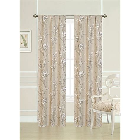 Laura Ashley® 84 Inch Pussy Willow Window Curtain Panel