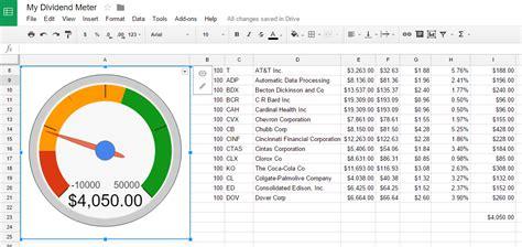 create  dividend tracker spreadsheet dividend meter