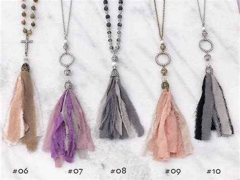 shabby fabric tassels groopdealz shabby chic fabric tassel necklace