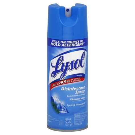 Lysol Floor Cleaner Poisoning Treatment by Lysol Disinfectant Waterfall Aerosol Spray