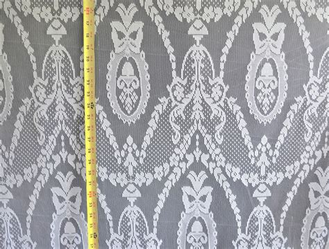 lace curtain tablecloth white 58 quot wide 100 poly fabric