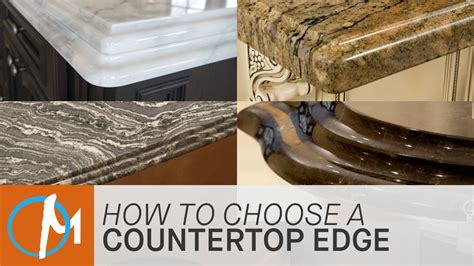 how to choose an edge for your countertop marble