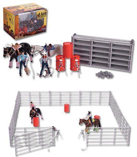 barrel racing play set horse toys rodeo toys farm