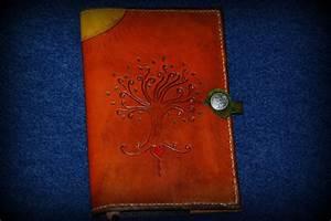 Custom Tree Of Life Celtic Cross Leather Journal Cover