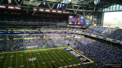 lucas oil stadium section  indianapolis colts