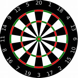 Dartboard Template by Anonymous - A dartboard with letters