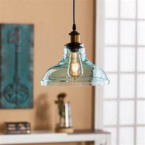 Colored glass pendant light fixture bellacor