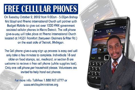 free phone medicaid detroit church to give out government assisted phones