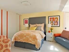Yellow and Gray Teen Bedroom