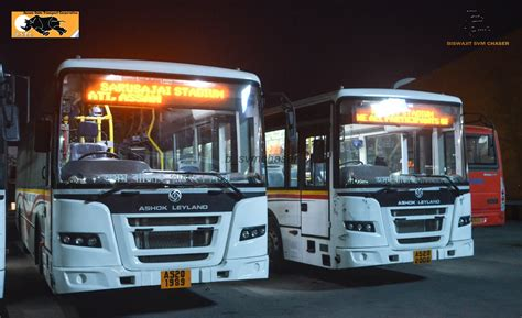 asurtc astc subsidiary ashok leyland jan bus  south asian games  guwahati biswajit