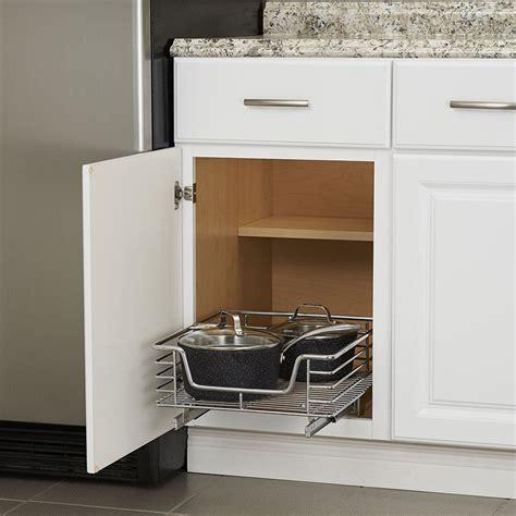 chrome sliding cabinet organizer    pull  baskets