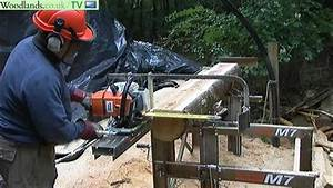 Portable Chainsaw Mill - Logosol M7 - YouTube