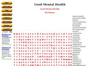 Mental Health Word Search Worksheets