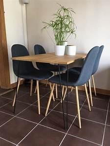 Table Pied Epingle : 74 id es de diy avec des hairpin legs table haute ~ Edinachiropracticcenter.com Idées de Décoration