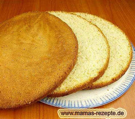 rezept einfacher wiener tortenboden mamas rezepte mit bild und kalorienangaben