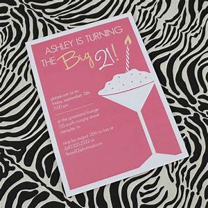 21st Birthday Invitation Template for Girls – Download & Print