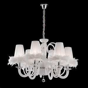 Kronleuchter Weiß Landhausstil : kronleuchter wei mit lampenschirmen h ngeleuchte lampenschirme wei kronleuchter kristallglas ~ Indierocktalk.com Haus und Dekorationen