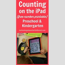 An Ipad Counting Activity For Preschool And Kindergarten  Technology In Early Childhood