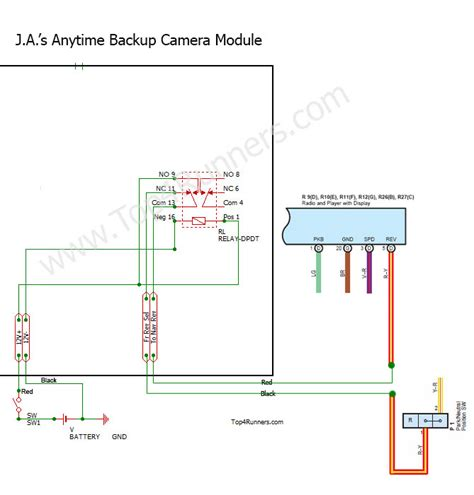 Toyota Highlander Backup Camera Wiring Diagram Black