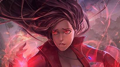Scarlet Witch Avengers Infinity War Artwork Wallpapers