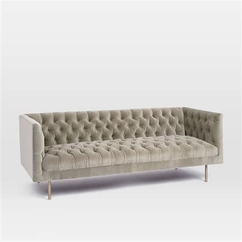 chesterfield sofa modern modern chesterfield sofa 79 quot west elm
