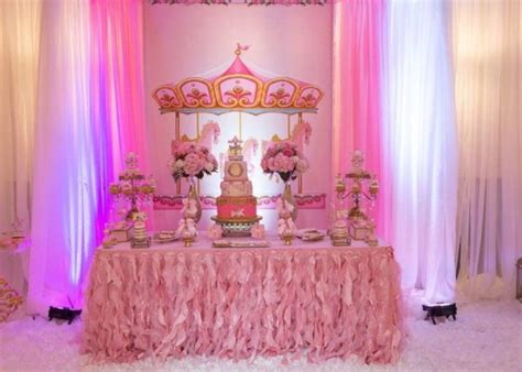 carousel  pink baby shower baby shower ideas themes