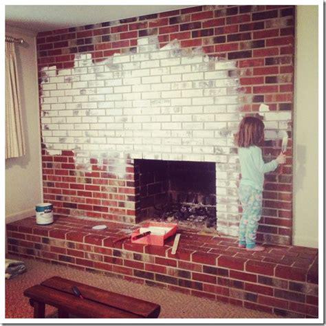 caught  grace painting  brick fireplace