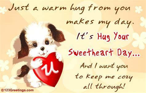 cozy  hug  sweetheart day ecards