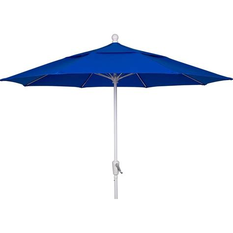 9 ft aluminum patio umbrella with pacific blue acrylic
