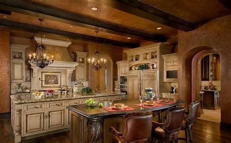 tuscan kitchen island old world tuscan kitchen double island for the home pinterest