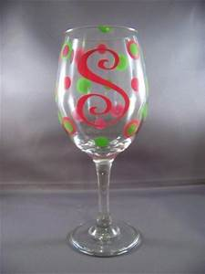kle customs personalized wine glasses letter initials With glasses with letters on them