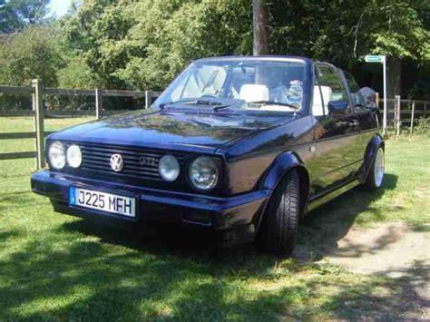 volkswagen 1991 mk1 golf gti rivage blue convertible cabriolet cabrio