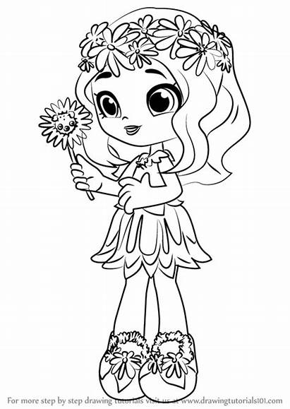 Shopkins Shoppies Coloring Pages Shoppie Dolls Daisy