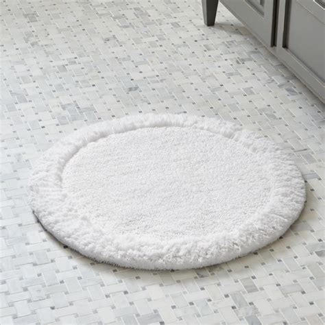 Spa Bathroom Rugs by Ultra Spa White 24 Quot Bath Rug Crate And Barrel