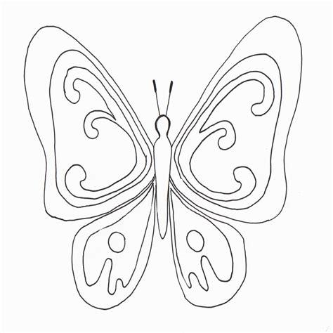 Dibujo De Mariposas Para Colorear Dibujos Infantiles De