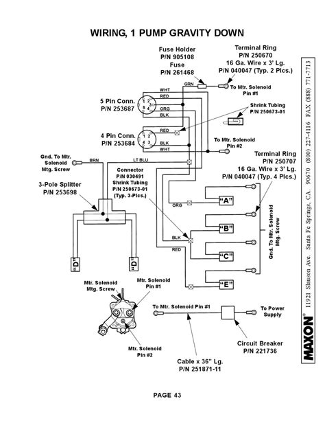 tommy lift gate parts wiring source