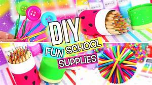 DIY SCHOOL SUPPLIES! DIY BACK TO SCHOOL SUPPLIES! - YouTube